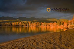 Whitefish Lake stormy light
