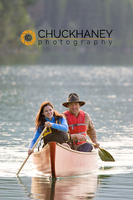 Couple Canoeing on Dickey Lake in Montana