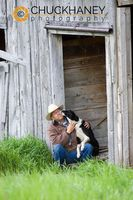 Rancher Bob Lee Getting Some Loving from Dog