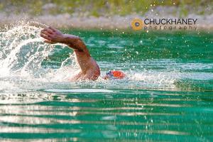 Ron Stevens Swims in Foys Lake