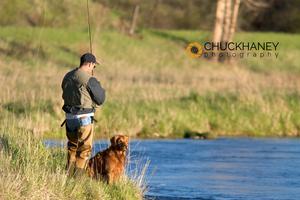 Marty Strofe Flyfishing with Buddy