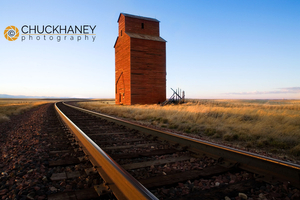 Old Wooden Granary near Collins, MT