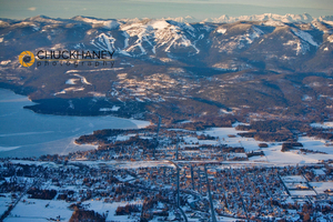Whitefish Winter Aerial