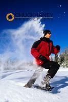Snowshoeing in Powder