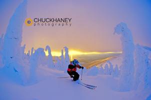 Sunset ski @ Big Mtn