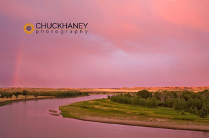 Missouri River sunrise clouds
