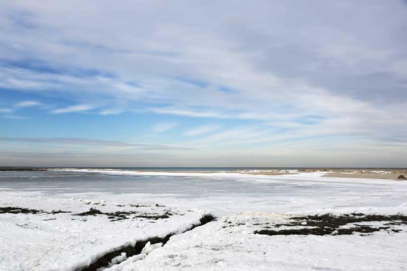 Winter Abstract, Eel Pond