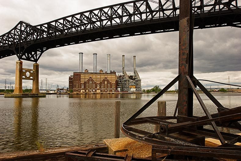 Pulaski Skyway and Kearny Power Plant, 2006