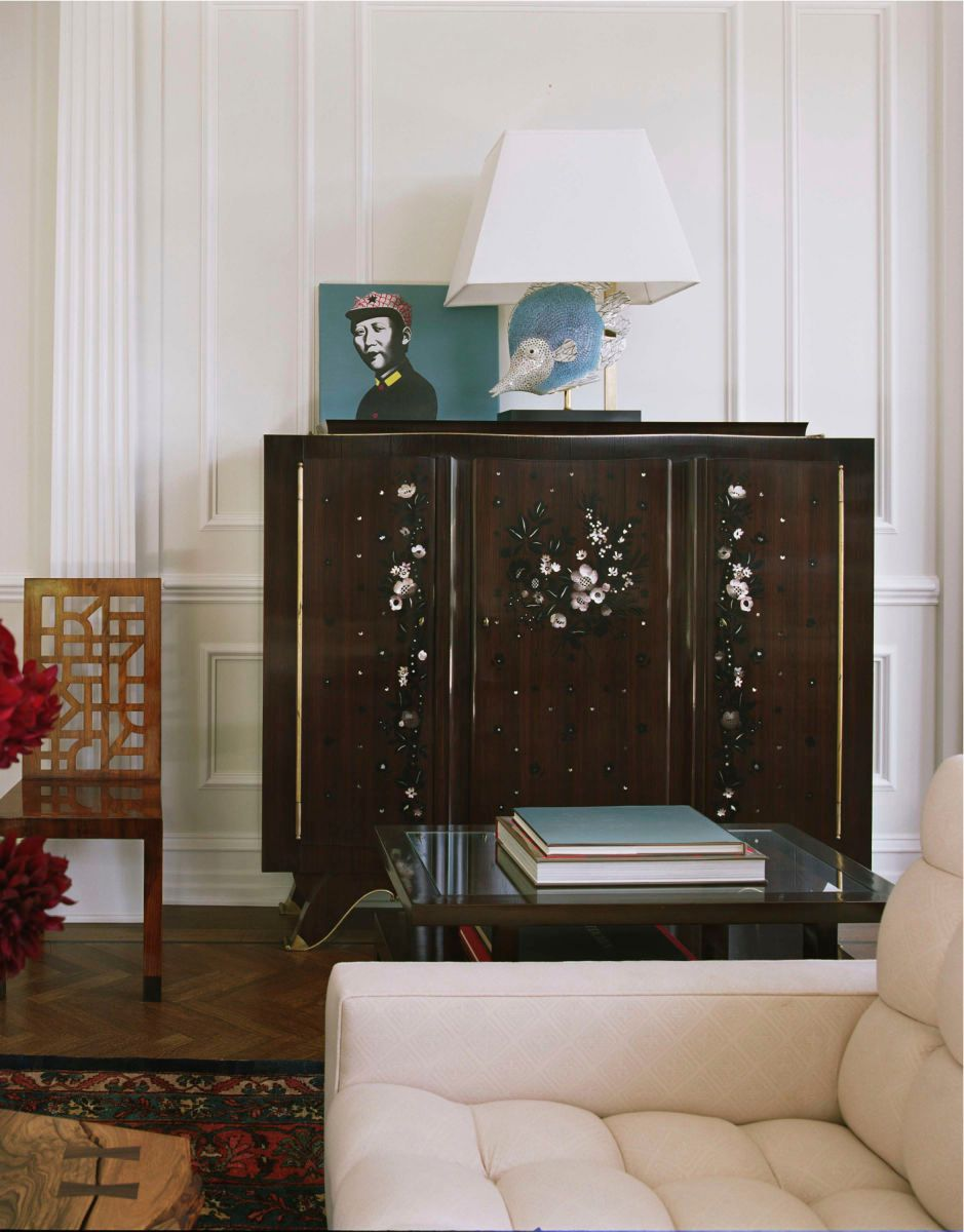 Libary with art deco cabinet