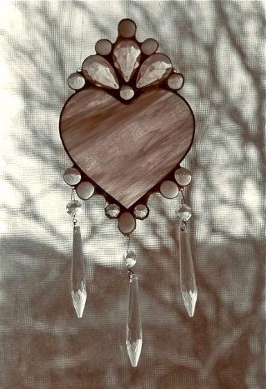 stained glass crystal heart, sedona, az, 1995