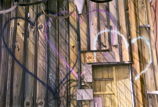 hippie house painted exterior, venice beach, ca, 1982