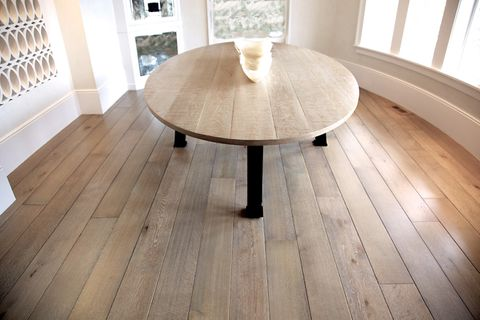 Shop  Prefinished custom stained and cerused white oak flooring