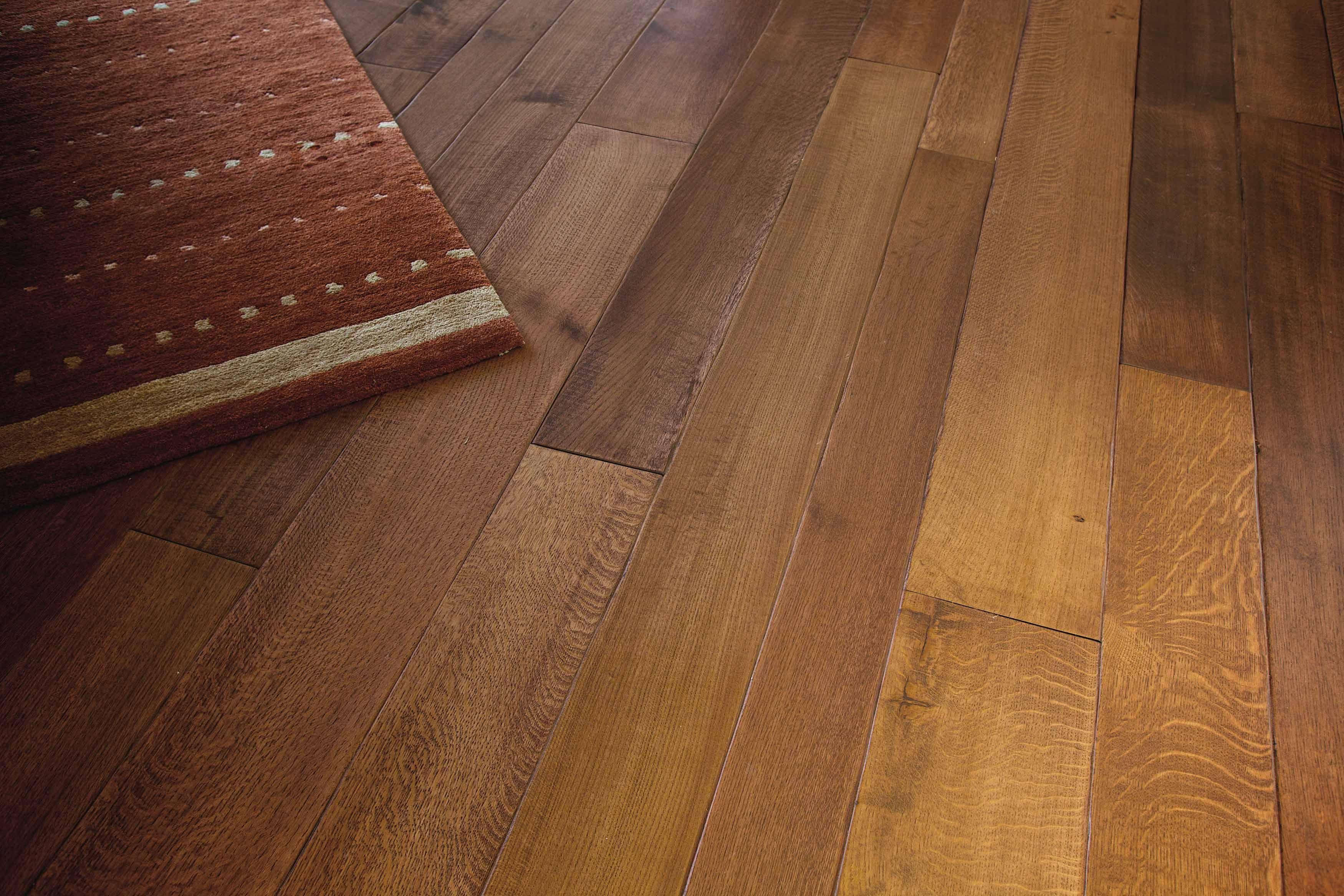 """Detail: 6,8,10"""" rift and quarter sawn white oak flooring"""