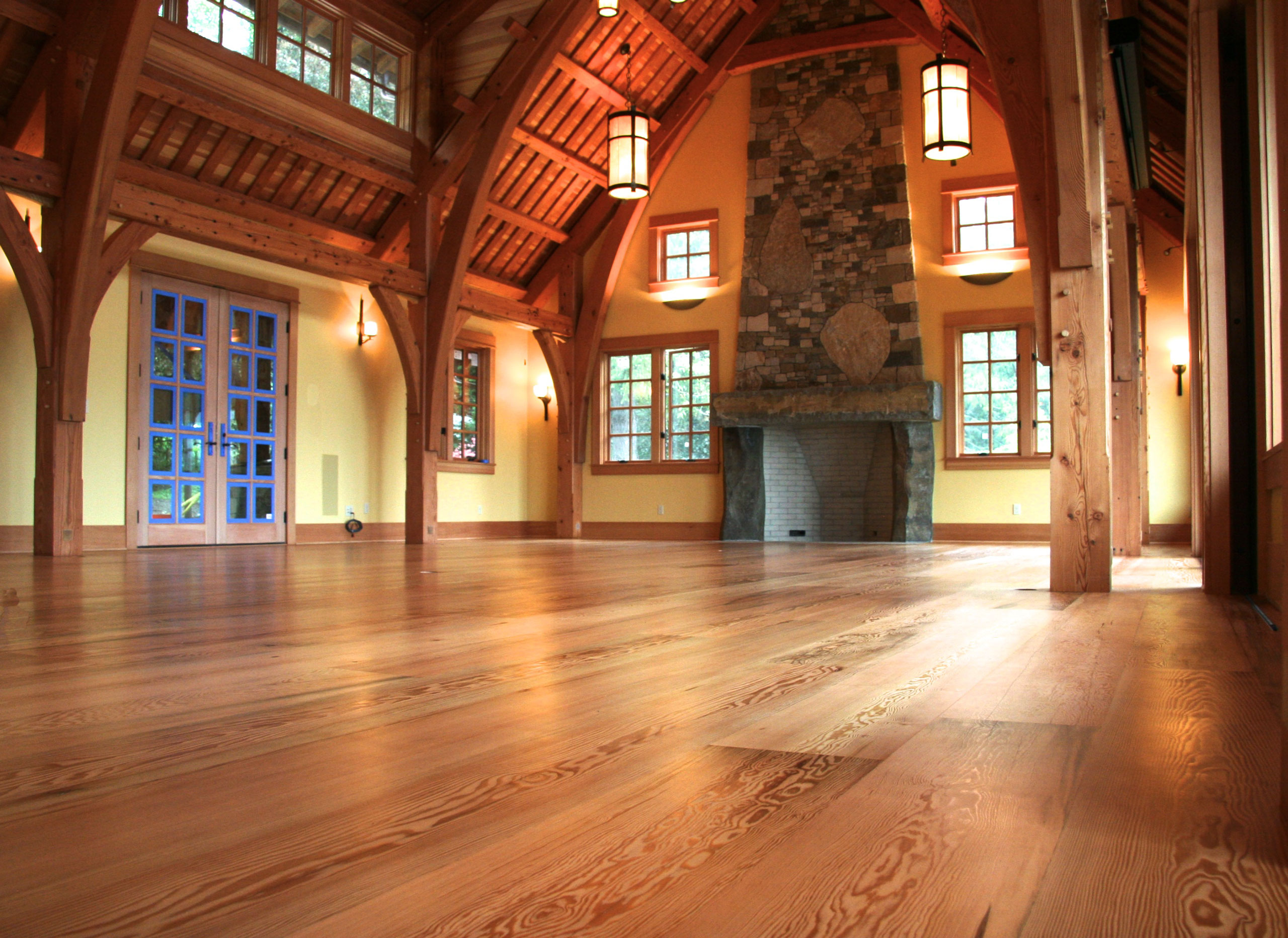 "10"" engineered Douglas fir plank flooring"