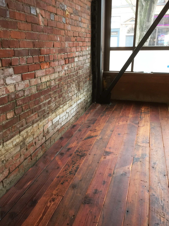 Long length patina recycled fir flooring