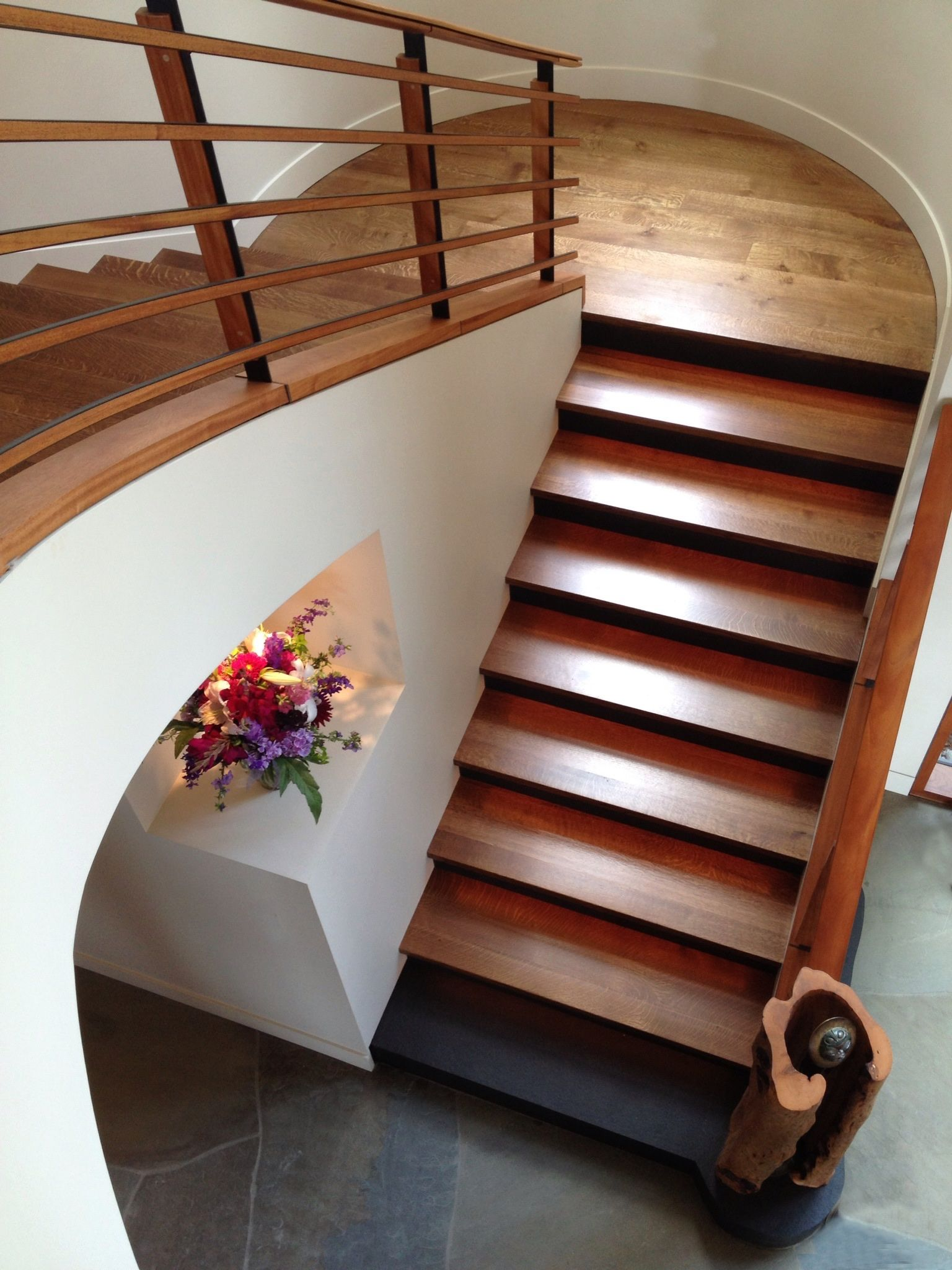 Rift & Quartered white oak stairs