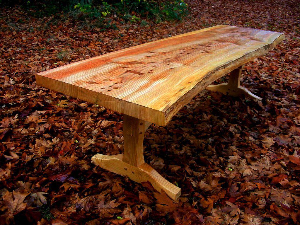 live edge cedar of Lebanon table
