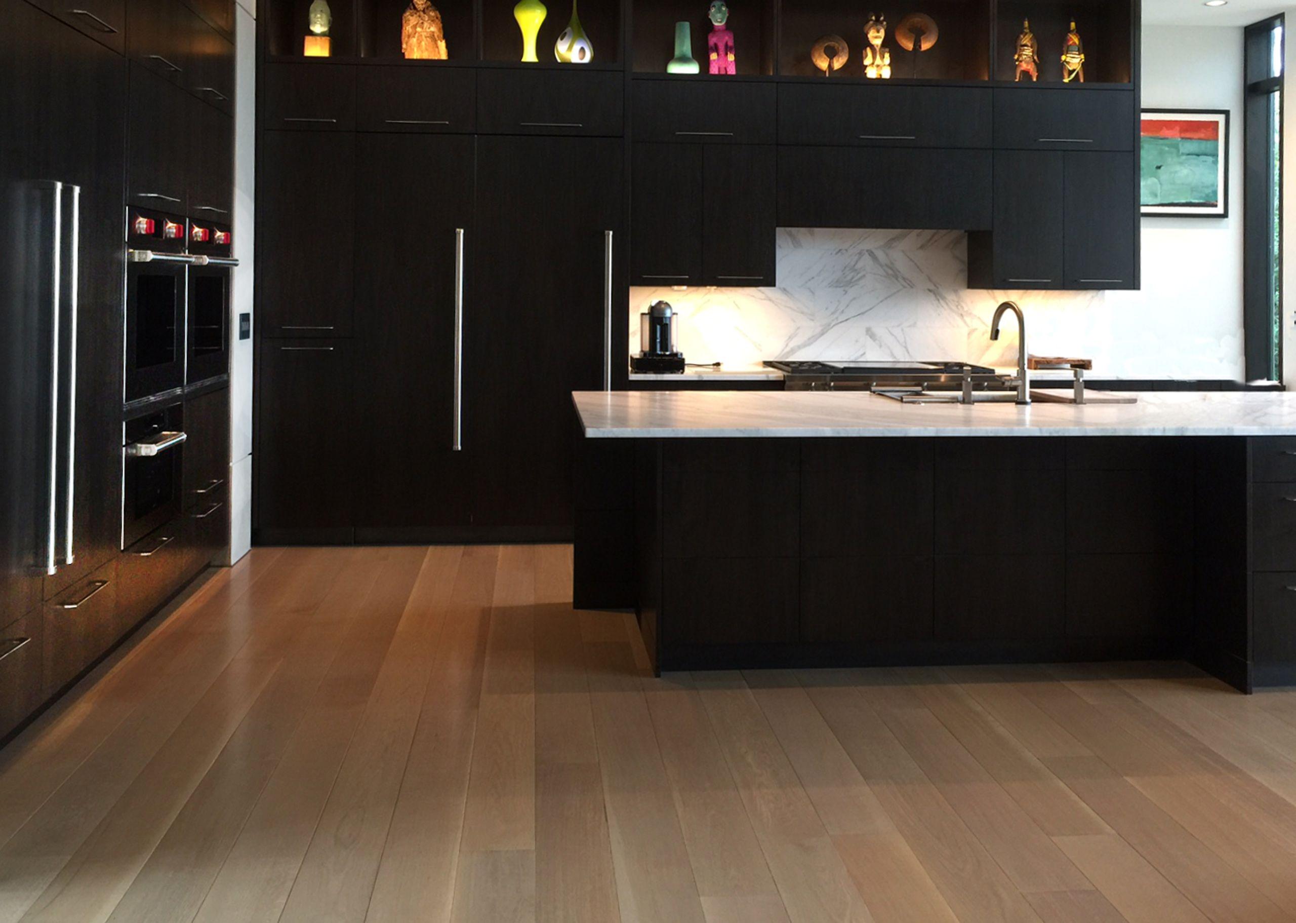 Custom Reactive Stained white oak floor