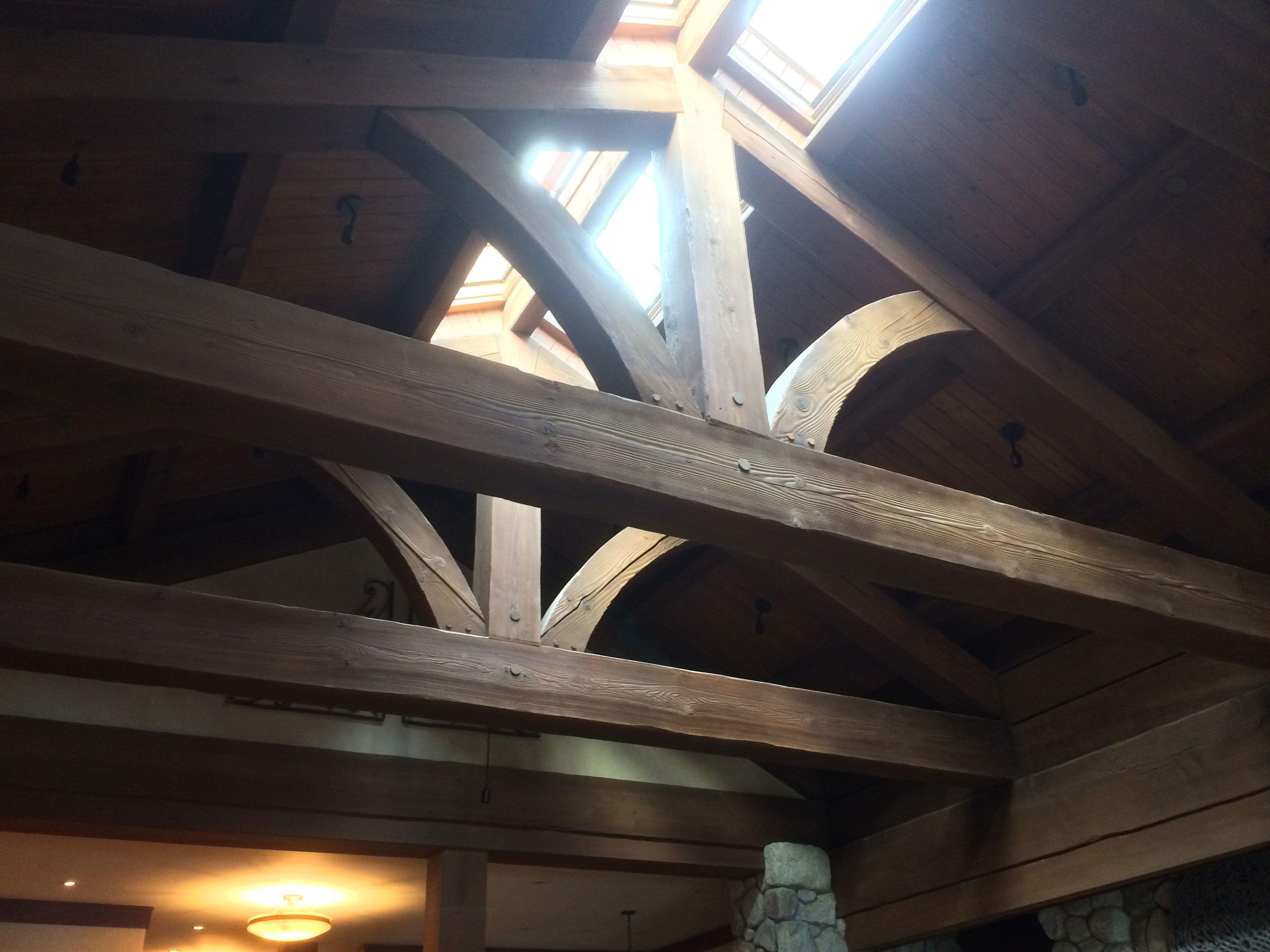 Recycled fir timber truss