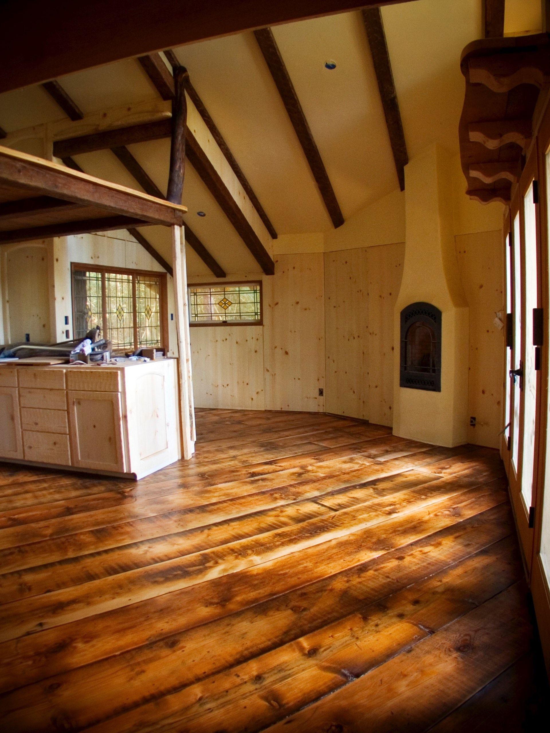 "15"" wide recycled patina fir flooring"