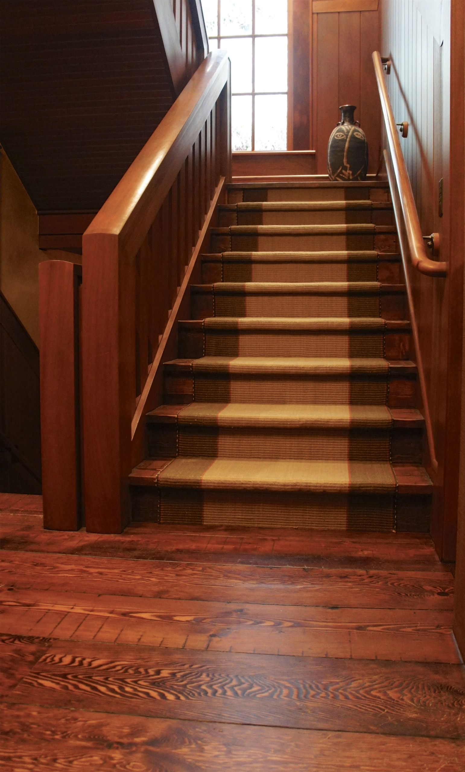 Recycled fir flooring and stairs