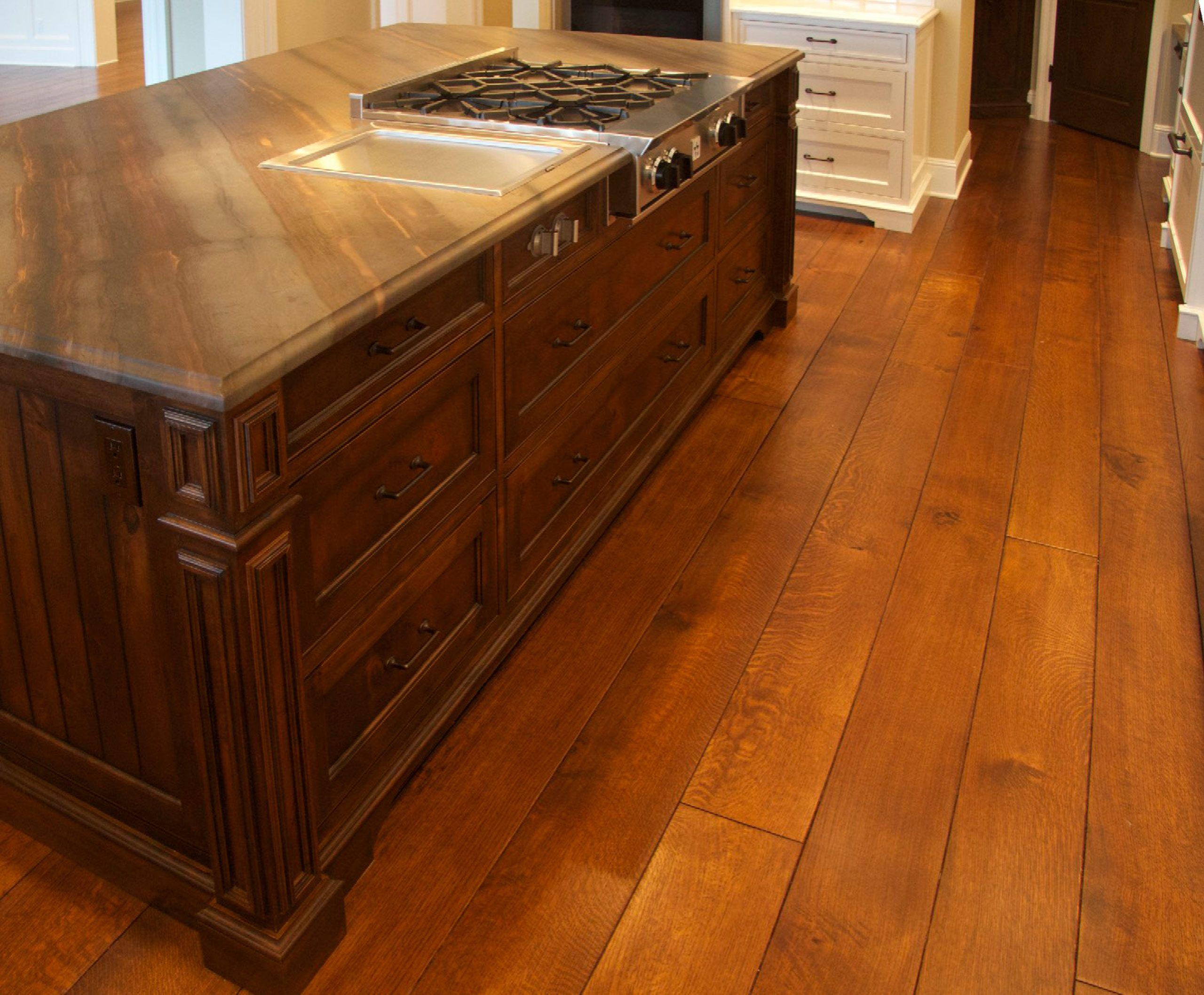 "8"" shop prefinished rift & quartered white oak plank"
