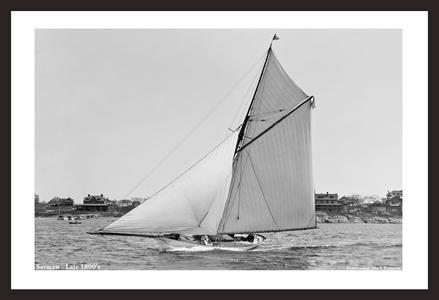 Vintage Sailboat restoration art print - Saracen Late 1800's