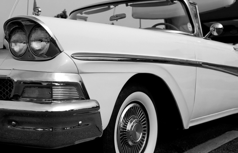Ford Classic car photography art print  black & white