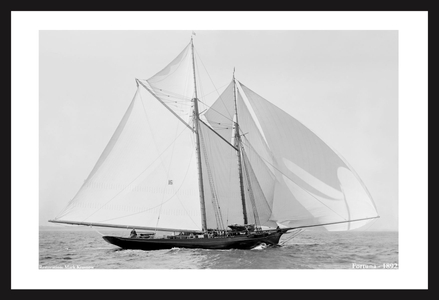 America's Cup - Yacht Fortuna -1892 - Vintage Art Print
