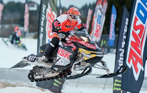 Snowmobile racing in New Hampshire