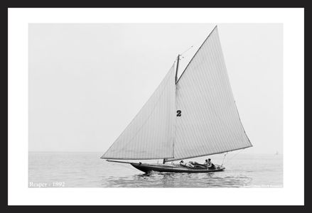 Reaper -1892  - Vintage sailing photography art print restoration