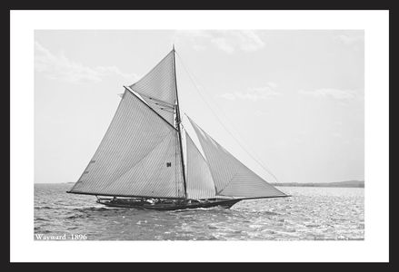 Wayward - 1896  - Vintage sailing photography art print restoration