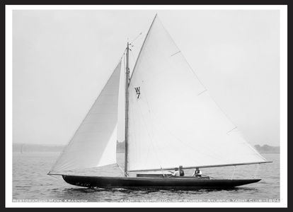 Vintage Sailboats Photo Restoration Art Print - 1896