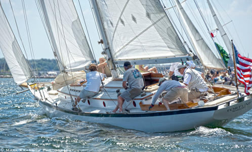 Schooner Fortune at the NYYC Classic Regatta  in Newport, RI