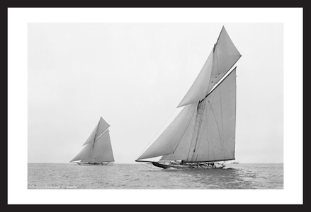 Historic America's Cup  Photos - Independence and Columbia
