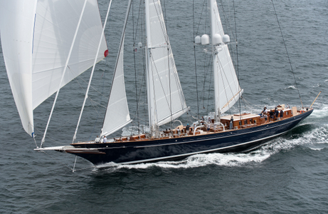 Royal Huisman Superyacht Meteor at the Candy Store Cup Newport, RI