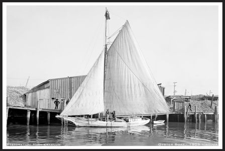 Oyster Lugger 1905 Retouched Sailboat Art Print