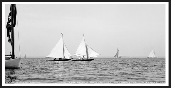 Ethelwynne and Spruce IV - First Seawanhaka Cup - 1895