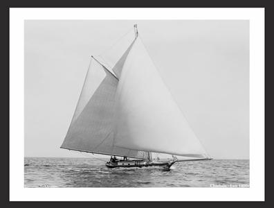 Cheiftan - Late 1800s - Vintage Sailing Restoration Art Print
