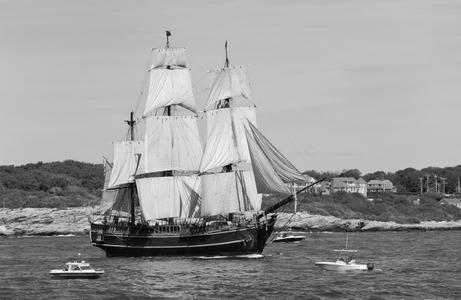 Schooner HMS Bounty at Parade of Sail in Newport RI,