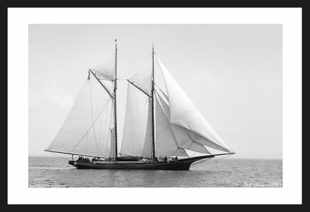 Vintage Sailing art print restorations - Nirvana - 1891