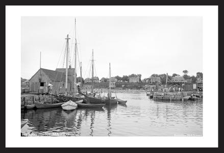 Motif #1 - Rockport Harbor - 1906 - Historic art print restorations