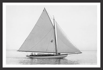 Hussar -1899 - Vintage Sailboat Art Print