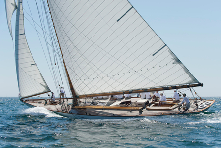 Classic Yacht Spartan NY50 at the Opera House Cup 2015 in Nantucket, MA