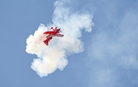 Oracle biplane acrobatic photo print