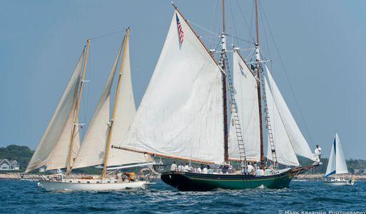 The Schooner  Lannon and Apellla Sailboat Art print