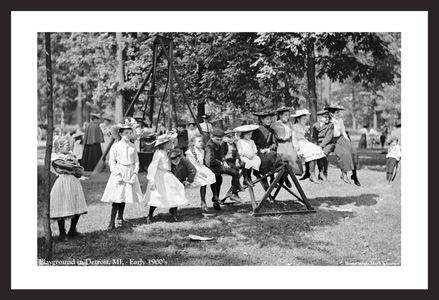 Playground, Detroit, Mich early 1900s