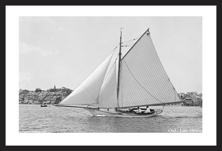Vintage Sailboats Art Print Restoration - Late 1800's
