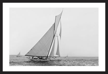 America's Cup Historic Sailing art prints - Yankee - 1900