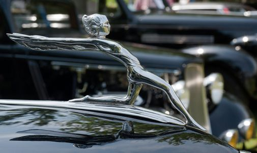 Classic Car Hood Ornament art print